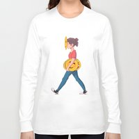 emoji Long Sleeve T-shirts featuring Emoji Expression by DanniSketches