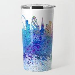 London Skyline Silhouette Impressionistic Blast Travel Mug