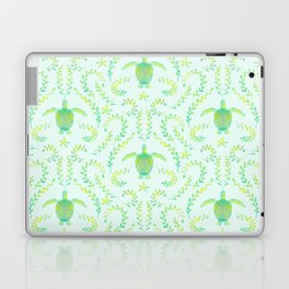 Sea Turtle Watercolor Pattern Laptop & iPad Skin