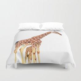 Giraffe Art - A Mother's Love - By Sharon Cummings Duvet Cover