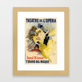 Belle Epoque vintage poster, French Theater, Theatre de L'Opera Framed Art Print