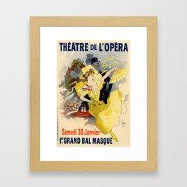 Belle Epoque vintage poster, French Theater, Theatre de L'Opera Framed Art Print