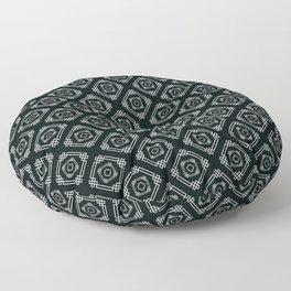 Decoish - White on Black - Set 2 Floor Pillow