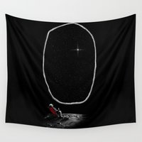 spaceman Wall Tapestries featuring Space Chill by nicebleed