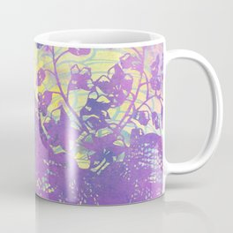 Spring Chinoiserie Stencil Pattern Lilac Purple Mint Green | Delicate Floral Asian Inspired Coffee Mug