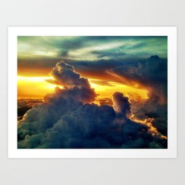 Above the Clouds III Art Print