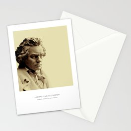 Beethoven Art Print, Portrait of Beethoven, Beethoven Bust, Beethoven Photo, Beethoven Art Print, Modern Home Decor, Bust Print, Beethoven Portrait Stationery Cards