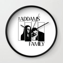 The Addams Family -  Black Flag Wall Clock