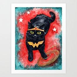 Wonder Kitten Art Print