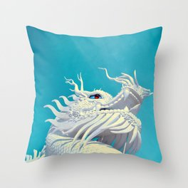 Rising Dragon by #Bizzartino Throw Pillow