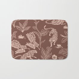Animals in the jungle pink I Bath Mat