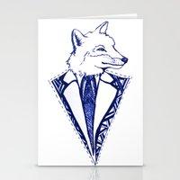 mr fox Stationery Cards featuring MR. FOX by Sagara Hirsch