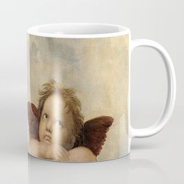 Raphael – Madonna Sistine – detail – two putti Coffee Mug