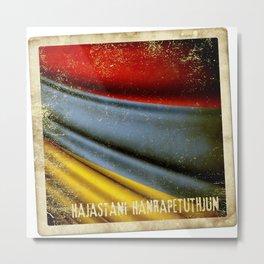 Grunge sticker of Armenia flag Metal Print