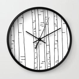 Minimal birches Wall Clock