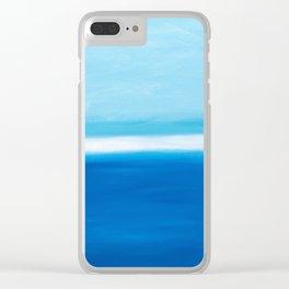 Calm Ocean Clear iPhone Case