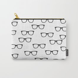 I See // Hipster Glasses Pattern Carry-All Pouch