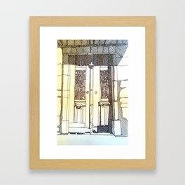 French Door Framed Art Print