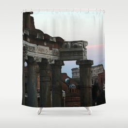 Roman Forum and Colosseum of Rome at Sunset Shower Curtain