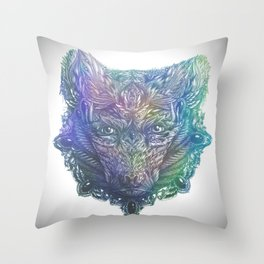 Ornament Bear - Mother Of Pearl Throw Pillow