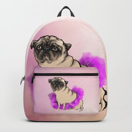 Depressed tutu pug Backpack