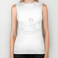 dale cooper Biker Tanks featuring Dale Cooper - Twin Peaks by Phie Hackett