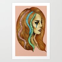 ultraviolence Art Prints featuring Ultraviolence by Christina Dedic
