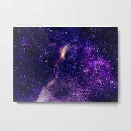 Ultra violet purple abstract galaxy Metal Print