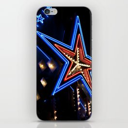 neon star iPhone Skin