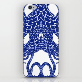 Blue Double iPhone Skin