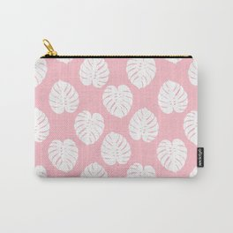 Basic monstera hipster house plant leaf tropical vibes for home decor office dorm room Carry-All Pouch