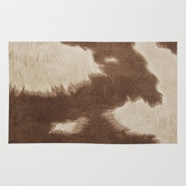 Cowhide Brown and White Rug