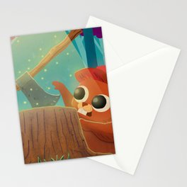 Beaver and the Axe Stationery Cards