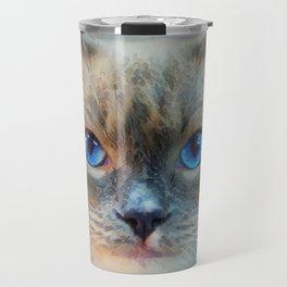 Siamese Cat-Blue Eyes Travel Mug