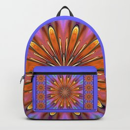 Modern Golden Mandala Daisy Backpack