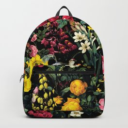 Floral and Birds Pattern Backpack