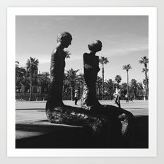 Barcelona sculptures Art Print