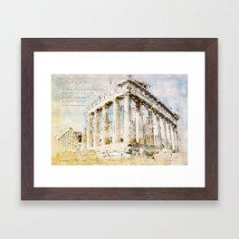 Acropolis, Athens Greece Framed Art Print