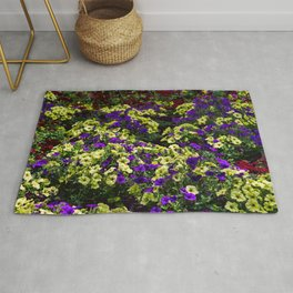 Waves of Petunias Rug