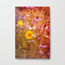 Vintage Summer Meadow Metal Print