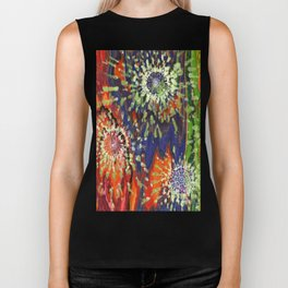 Induced Cosmic Revelations (Four Dreams, In Mutating Cycle) Biker Tank