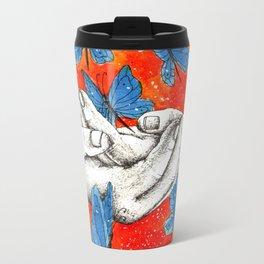 Inky hands25-Butterflies Travel Mug