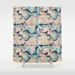 Abstract Pattern 11527- 5 Shower Curtain