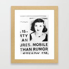 Unemployed Bette Davis Framed Art Print