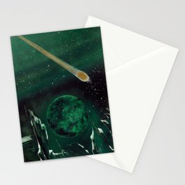Copper Colored Comet Cometh Stationery Cards