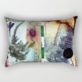 Botanical collage Rectangular Pillow