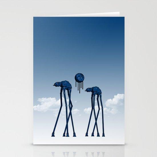 Dali's Mechanical Elephants - Blue Sky Stationery Cards
