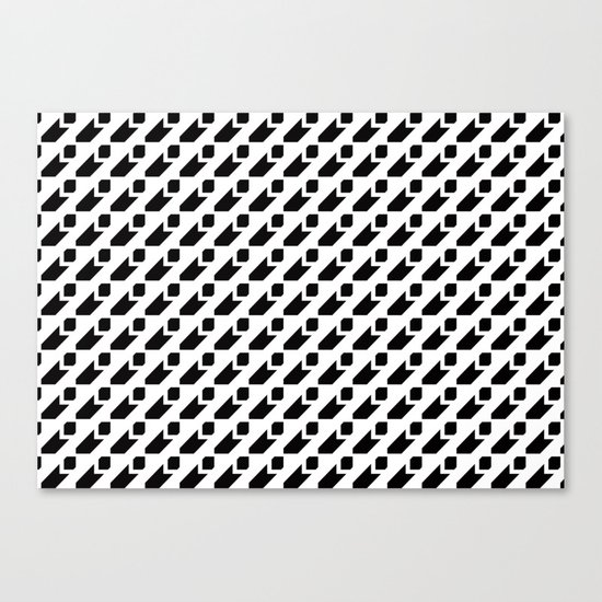 Segbroek Black & White Canvas Print