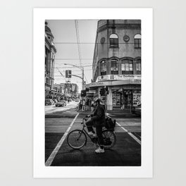 On your mark. (Chapel Street, 2013) Art Print