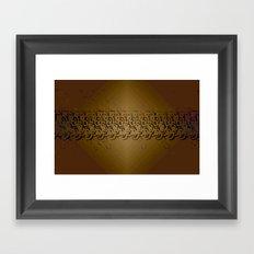 Paua Tan Framed Art Print